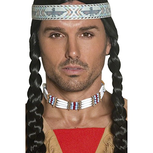 Indianisch Kostüm - Amakando Indianer Halskette Indianerschmuck Choker Western Halsband Indianischer Schmuck traditioneller Stammesschmuck Cowboy Kostüm Zubehör