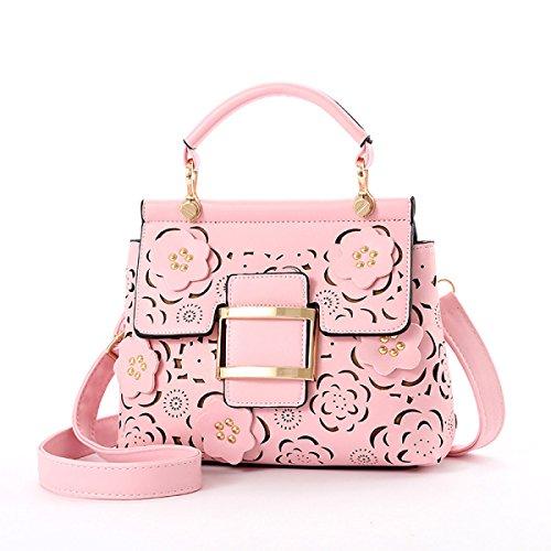 2017 Frauen-Schulter-Beutel-Geldbeutel-Tote-Handtaschen-Art- Und Weisetroddel PU-Leder-Höhle Pink