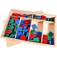 Sharplace Montessori Sellos Juego Juguetes Enseñanza de Matemáticas de Madera Aprendizaje Temprano de Niños