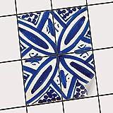 creatisto Bad-Fliesen Fliesen-Dekoration | Design-Folie Sticker Aufkleber Küchenfolie Küchengestaltung | 20x25 cm Muster Ornament Spanish Tile 7-4 Stück
