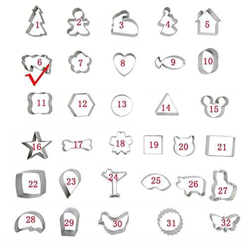 3-piezas Alu Snoopy Pi? Zu Fuß Sushi Keks-Kuchen Keks des Pommes Briefmarken Mold DIY (6#)