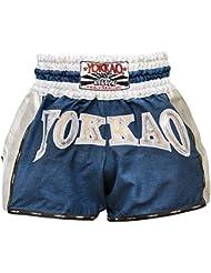 "'yokkao Carbon Muay Thai Pantalones Cortos ""Denim, hecha de jeans, color azul, tamaño XL (32"")"