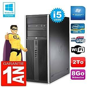 HP PC Tower compaq 8200 Core I5-2400 RAM 8gb Scheibe 2 zu DVD-Brenner Wifi W7