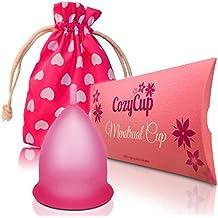 Rosa Menstruationstasse CozyCup CLASSIC - Menstruationskappe klein - aus medizinischem Silikon inkl. Stoffbeutel (Gr 1)