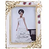 [Sponsored]Ethnic Karigari Home Decor Table Photo Frame With Stand For Home Entrance | Bedside With Trendy Designer Border