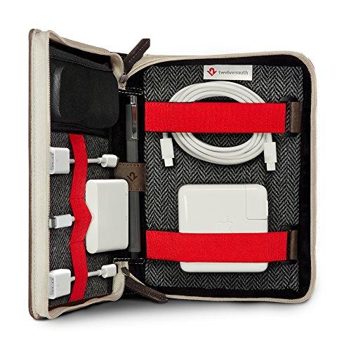 Twelve South BookBook CaddySack , Reisetasche für Ladegeräte, Kabeln und Adapter