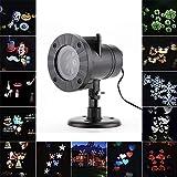 YLOVOW Weihnachtsschneeflocke Projektor Lights Outdoor LED 12 Muster Wasserdichte Lichter Hausgarten Stern Licht Innendekoration