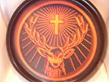 Jägermeister Serviertablett Tablett rund schwarz orange