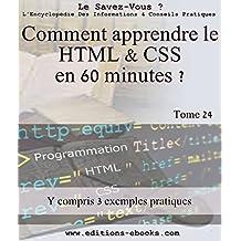 Comment apprendre le HTML et CSS en 60 minutes ? (Encyclopédie le savez-vous? t. 24)