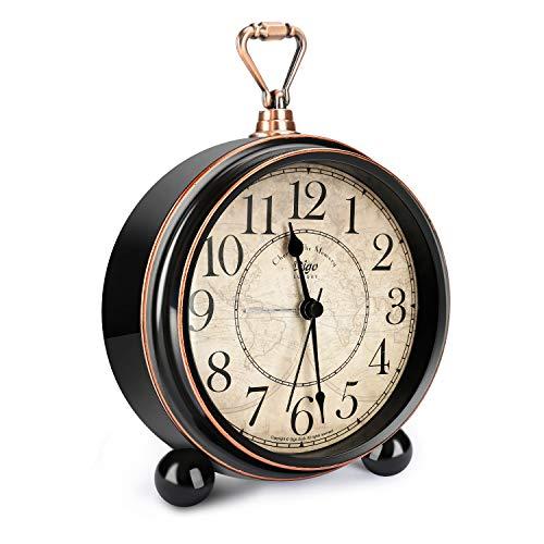 Característica: 1: Muy fácil de usar, gire la perilla para ajustar la hora y la alarma, luego instale la batería, coloque primero los terminales (+) y luego presione los terminales (-). 2: Bajo consumo de energía, alta configuración, portátil con pil...