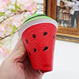 Decompression Toys,BBring 2017 New Style Jumbo Slow Rising Squishies Toys Scented Squeeze Watermelon Stress Relief Toy Soft Cute Fruit for Stress Relief Pressure (18CM X 9CM, Red)