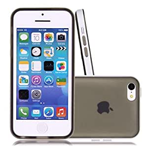 Black Candy Dual Color Soft TPU Gel Case Bumper Protect Cover Skin for Apple iPhone 5C