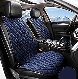 NQCT Universal 12V Beheizte Autositzheizung Beheizte Kissenbezug Pad Wärmer Hoch/Niedrig / Temp Schalter,Blue