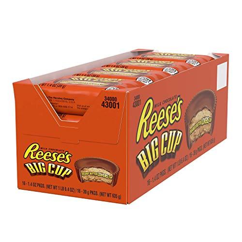 Reeses Big Cup Standard Bar - Großer Erdnussbutter-Cup-Riegel: 16 Stück (16 x 39g)