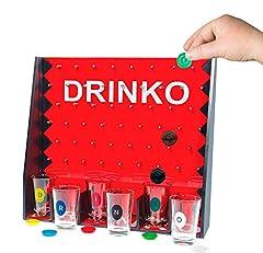 Idea Regalo - Vetrineinrete® Gioco da tavolo drinko alcolico con fiches 6 bicchieri da shot per feste party divertimento shottini giochi di società idea regalo C74