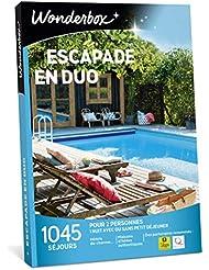 Wonderbox – Coffret cadeau noël couple - ESCAPADE EN DUO – 1045 séjours d'une nuit en hôtels de charme, maisons d'hôtes authentiques, ferme vigneronne pour 2 personnes