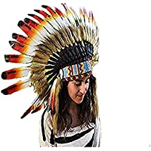 X04 - Sombrero Indio de tres colores / Penacho / Tocado / Headdress
