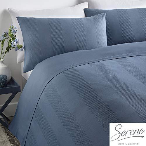 Serene Bettwäsche-Set 55% Polyester, 45% Baumwolle, Denim, Super-King-Size-Bett Cobalt Blue Plain