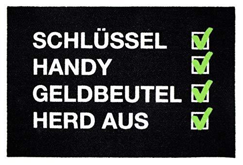 heckliste - Vergesslich - lustiger Fußabtreter - Schlüssel, Handy, Geldbeutel - Premium - 60x40 cm ()