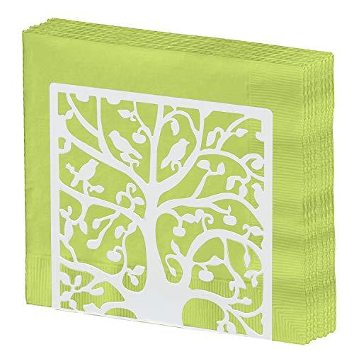 Metall Baum & Bird Design Tabletop Serviette Halter/freistehend Tissue Spender Casual Größe S weiß - Serviettenhalter Vögel