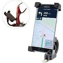 Soporte Para Motocicleta, COSCOD Soporte Móvil Motocicleta Ultra Estable 4 Esquinas Cerradas Silicona Antideslizante Universal para 3,5'' a 6,5'' de iPhone Android Smartphone GPS, etc. -Negro