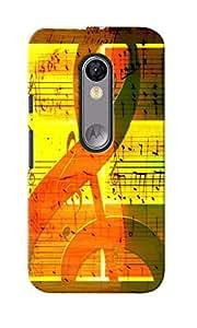 CimaCase Music Note Designer 3D Printed Case Cover For Motorola Moto G (3rd Generation)