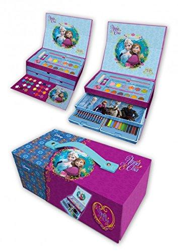 Disney Frozen / Eiskönigin Malset / Malkoffer 57 Teile, Stifte, Geschenkeset (Frozen Kinder Geschenke)