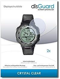 2 x disGuard Crystal Clear Lámina de protección para Suunto Vector Black - ¡Protección de pantalla cristalina con recubrimiento duro! CALIDAD PREMIUM - Made in Germany
