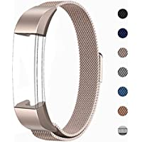 LANGREE Fitbit Alta Strap Replacement, Milanese Loop Stainless Steel Bracelet Smart Watch Band with Magnet Lock for Fitbit Alta/Fitbit Alta HR Wristbands