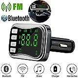 TianranRT Drahtlos Bluetooth FM Sender Modulator Auto Kit MP3 Player Dual USB Ladegerät (Silber)