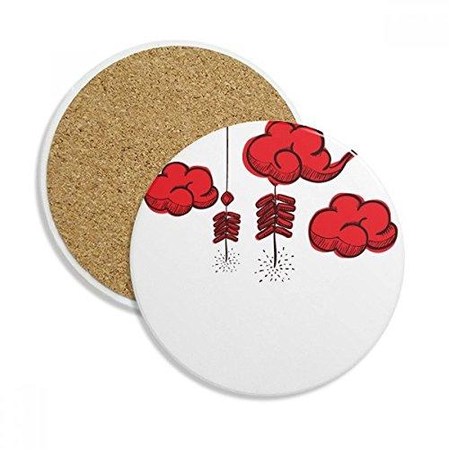 Böllern Chinesisches Jahr der The Rooster Stein Drink Keramik Untersetzer für Tasse Geschenk 2