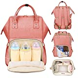 #8: Motherly Diaper Bags for Mom and Baby Stylish Maternity Backpack (Orange)
