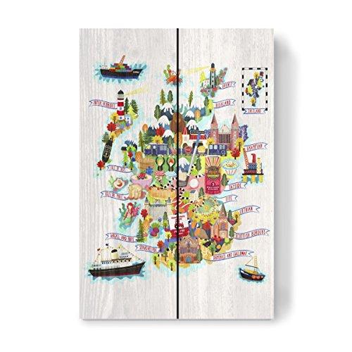 artboxONE Holzbild 30x20 cm Comic