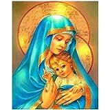 BAIYUDE Virgen María Cristo Bata DIY 5D Pintura Diamante Punto de Cruz Iconos Religiosos Imágenes DIY