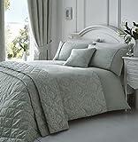Laurent-imitation-soie-imprim-damass-Linge-de-lit-Luxueux-Parure-de-lit-Parure-de-lit-coussins-argent-gris-Silver-Simple