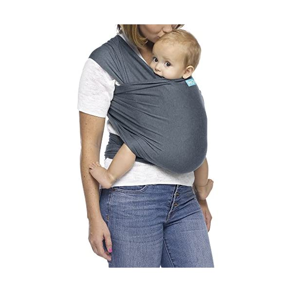MOBY Evolution Baby Wrap Carrier for Newborn to Toddler up to 30lbs, Baby Sling from Birth, One Size Fits All, Breathable Stretchy Made from 70% Viscose 30% Cotton, Unisex Moby 70% Viscose / 30% Cotton Knit One-size-fits-all Grows with baby, from newborn to toddler 22
