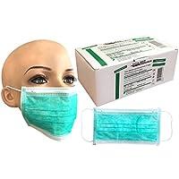 Mundschutz Einmal Maske/Gesichtsmaske 99,5% Filtereff. grün 1000 Stück (20x50Stück) mit Gümmibändern, 3-lagig preisvergleich bei billige-tabletten.eu