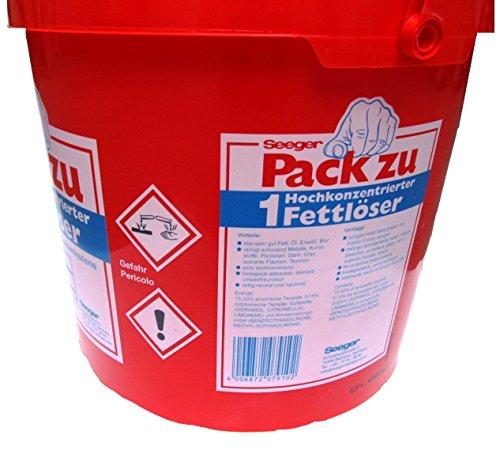 Seeger, Pack Zu 1, Fettlöser hochkonzentrierter Reiniger, 12 Kilo Gebinde