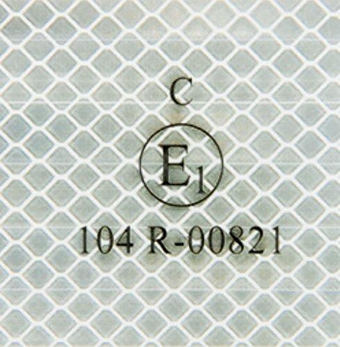 WAMO Beleuchtungen und Reflektoren - Nastro adesivo riflettente 3M per auto, 1 m, per strutture fisse, colore: argento/bianco
