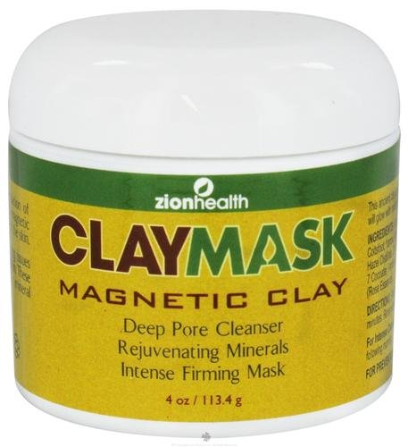 Zion Health Deep Pore Cleanser Clay Mask -- 4 oz by Zion Health (English Manual)