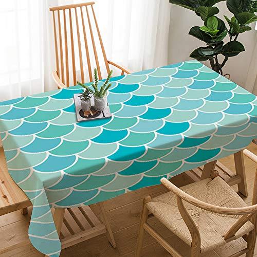 CFWL Tischdecke Lino aus Baumwolle Tischdecke für das Haus wasserdicht und Öl 140 x 200 cm Tischdecken für Geburtstagsfeiern Bianche -