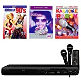 MPMan Karaoke KOMPLETT ANLAGE CD+G DVD Player + 2 MIKROFONE + 3 Karaoke Party DVD's