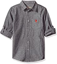 U.S. POLO ASSN. boys Long Sleeve Chambray Sport Shirt Button Down Shirt