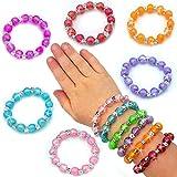 German Trendseller 6 x Schmuck Perlen - Armbänder für Kinder - Neu - ┃ Farb - Mix ┃ Kindergeburtstag ┃ Mitgebsel ┃ Kinderschmuck ┃ 6 Stück