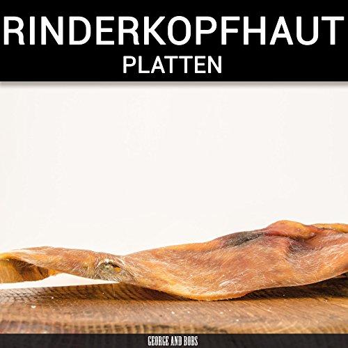 George & Bobs Rinderkopfhautplatten - 1000g | Platten ca.20x20cm | Langer Kauspaß für Hunde | Rinderkopfhaut aus Deutschland -