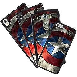 Funda carcasa todos los móviles diseño propio foto escudo capitan america para Huawei P8