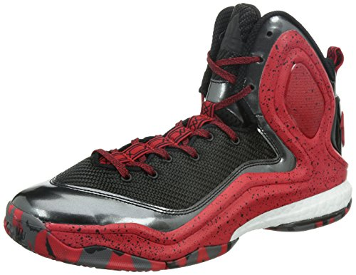 adidas D Rose 5Boost Zapatillas de baloncesto, color negro y rojo, Black /red, 8,5 UK