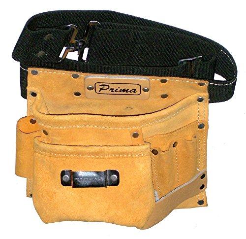 Prima Tools lps5mb Wildleder Leder Nagel Werkzeug Tasche mit 5Taschen–braun (Nagel Wildleder Leder Tasche)