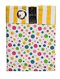 Produkt-Bild: Homescapes Kindervorhang Mädchen Kinderzimmer Ösenvorhang Dekoschal Polka Dots 2er Set bunt 117 x 137 cm (Breite x Länge je Vorhang) 100% reine Baumwolle