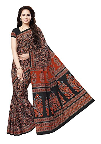 Vinay's Women's Pure Cotton Saree with Blouse Piece (KalamkariNX - Multicolour) (KalamkariNX6104)